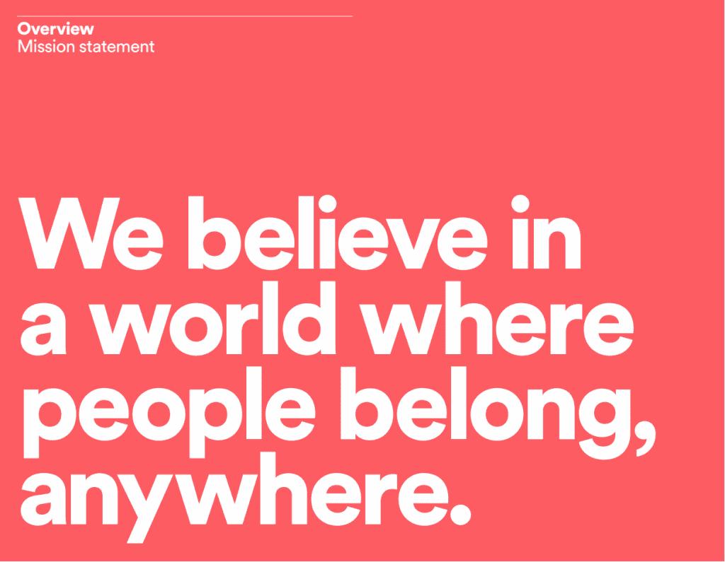 Airbnb belong anywhere