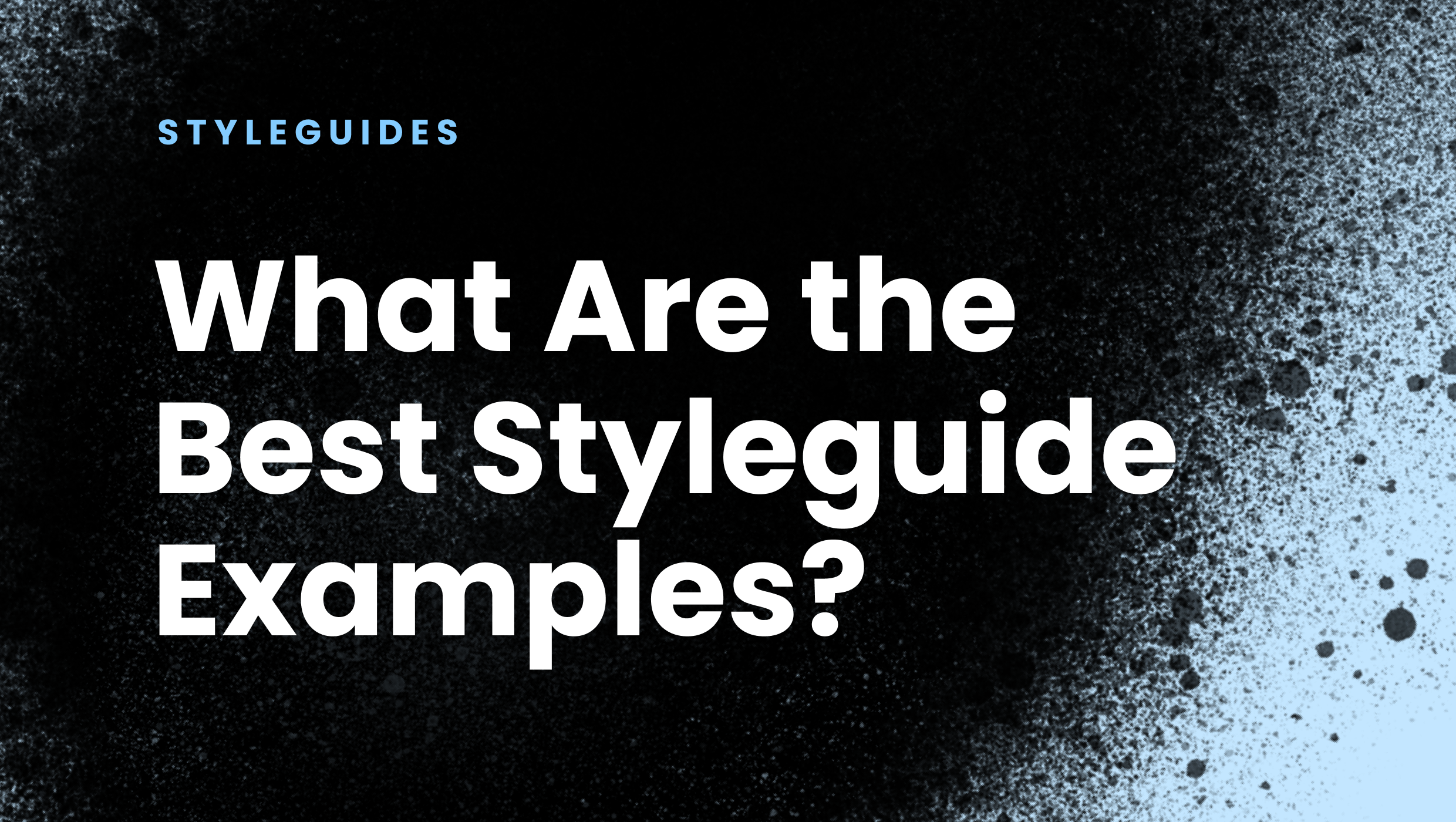 What Are the Best Styleguide Examples?