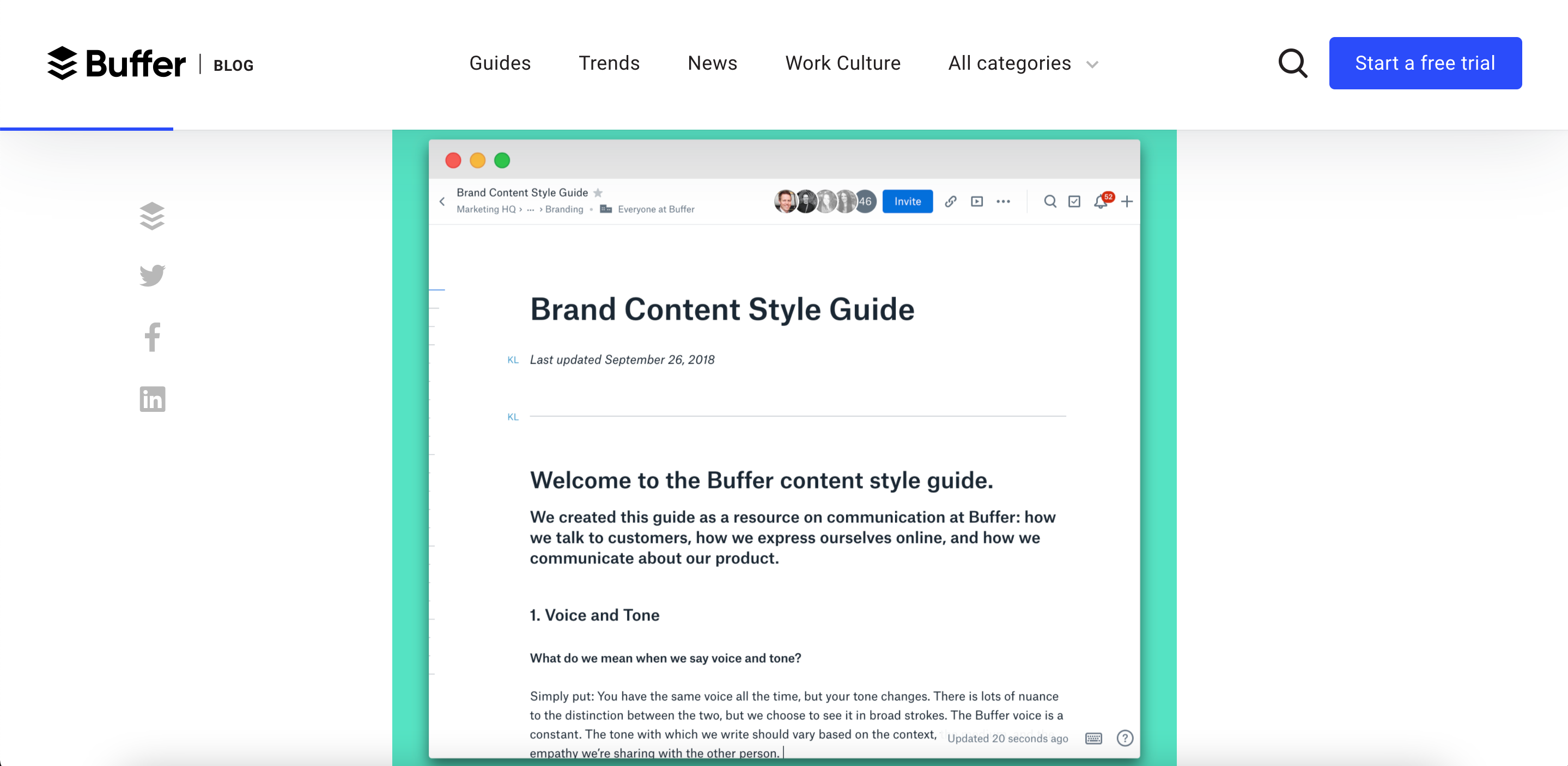 10 of the best content styleguides in tech - BUFFER