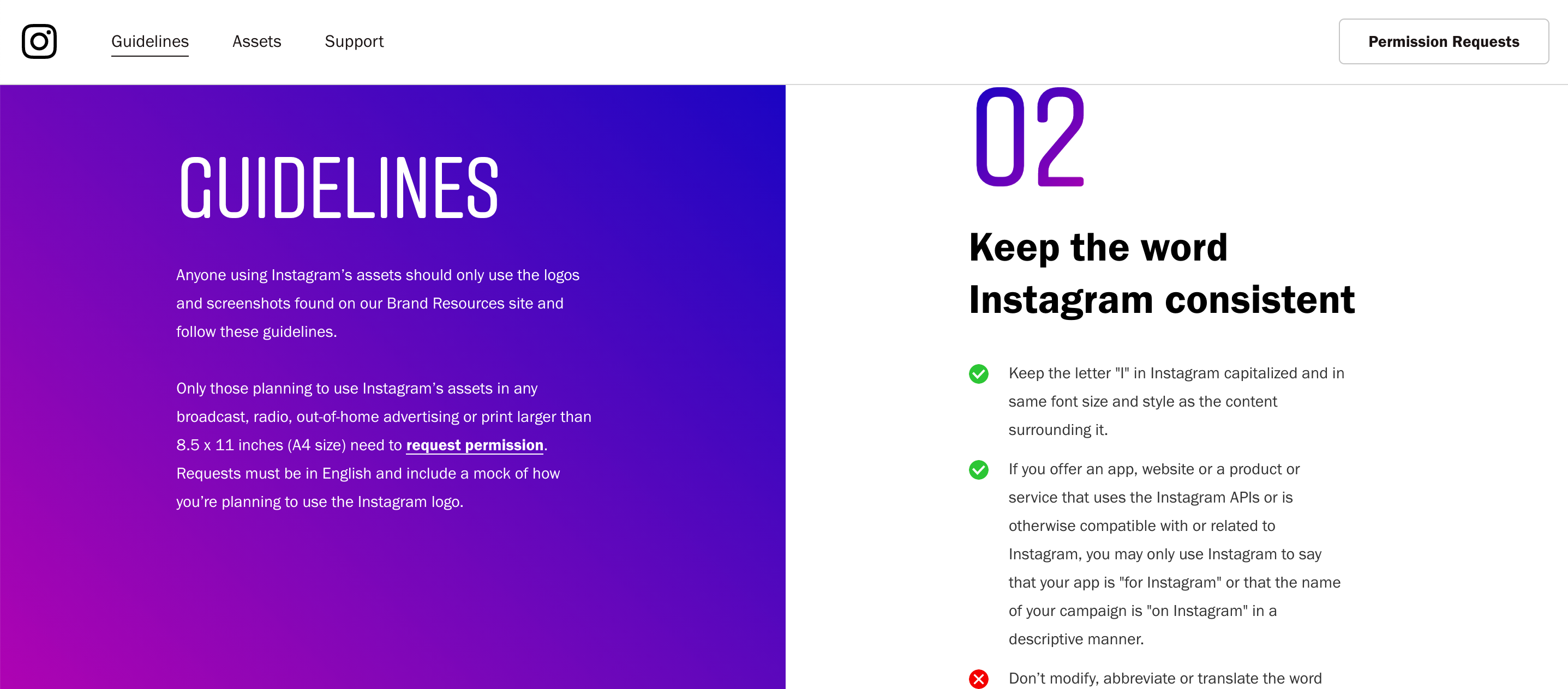 10 of the best content styleguides in tech - INSTAGRAM