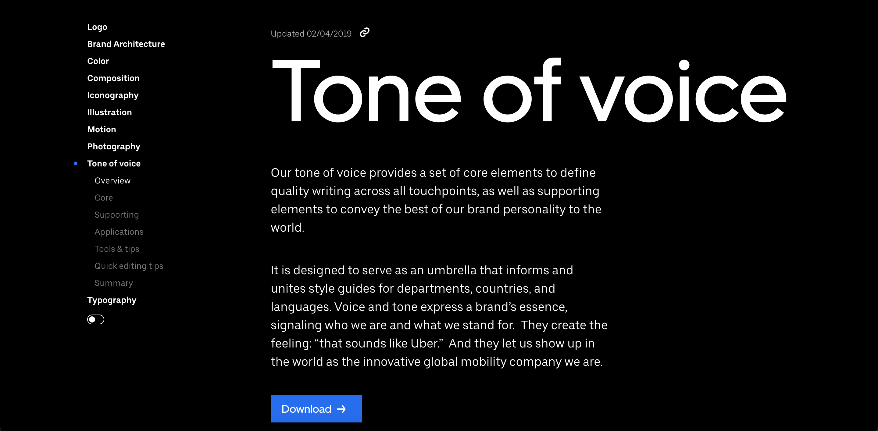 10 of the best content styleguides in tech - UBER