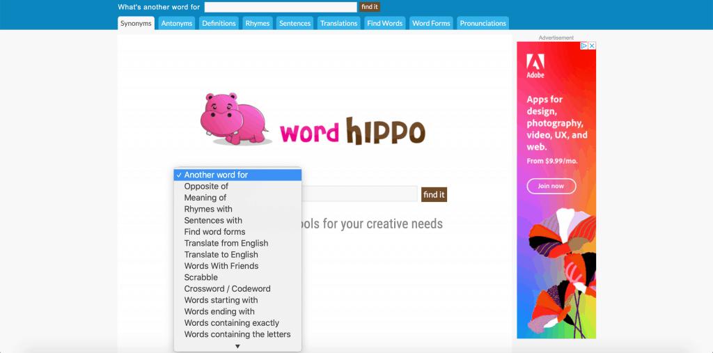 WordHippo: Best Writer Tools 2020