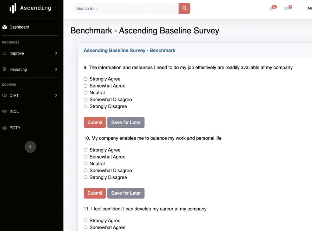 A glimpse into Ascending's DEI questionnaire