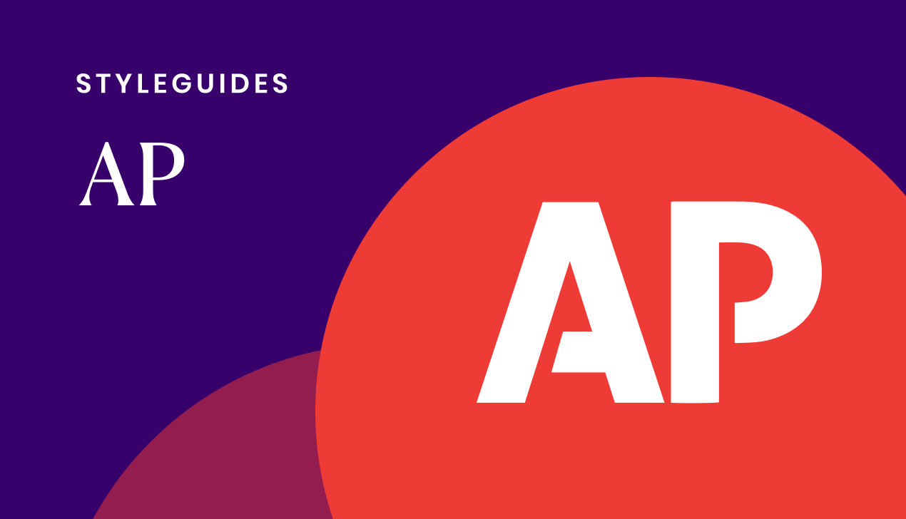 A comprehensive guide to the AP style of writing