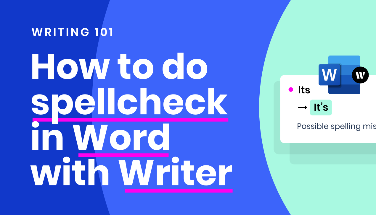 How to do spellcheck in Word with Writer