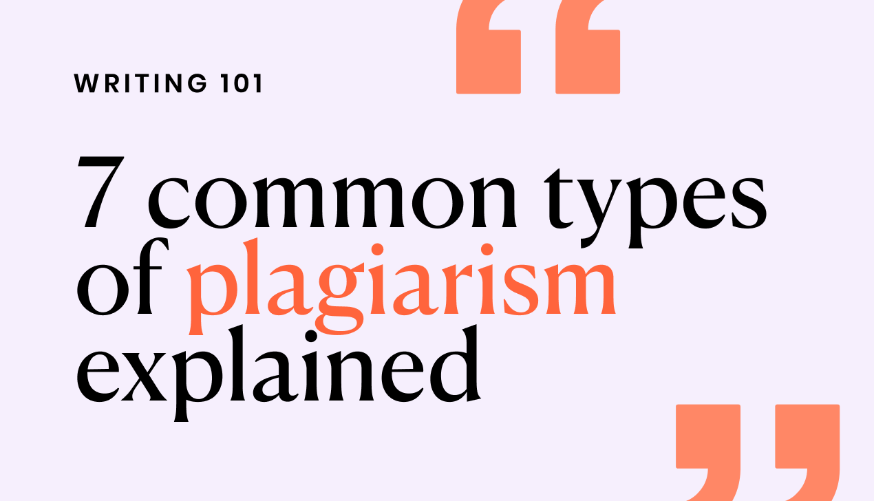 7 common types of plagiarism explained
