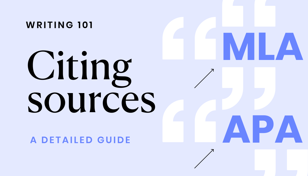 A detailed guide to citing sources in MLA and APA