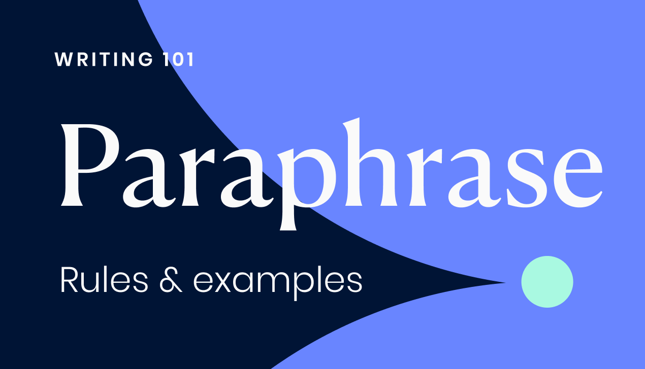 How to paraphrase (including examples)
