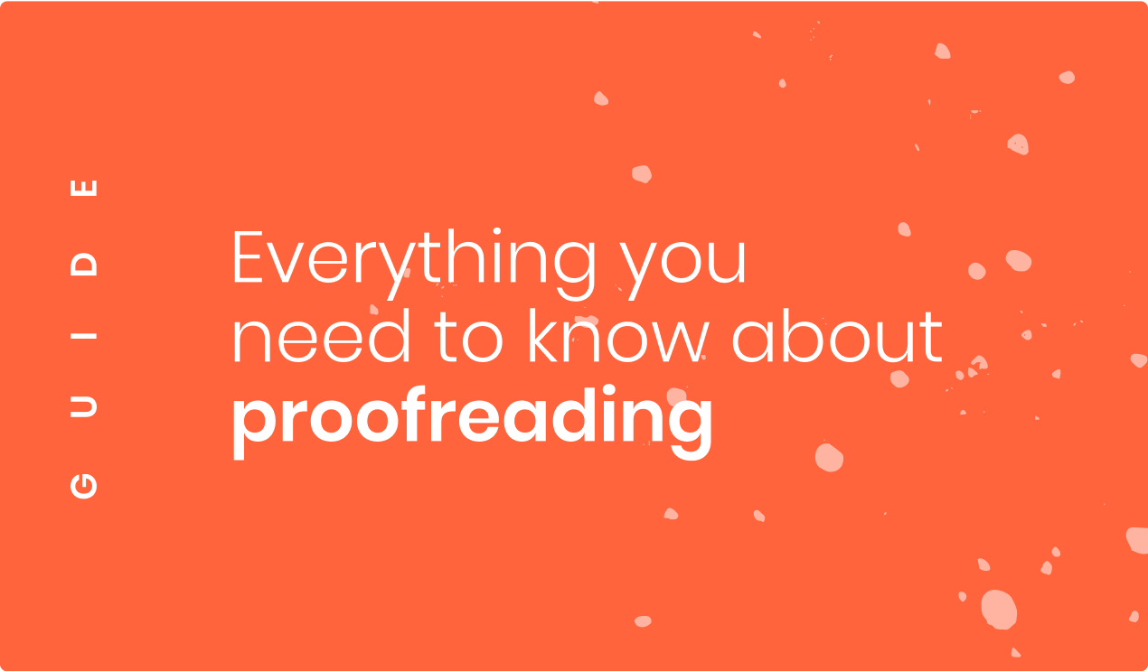 Everything about proofreading