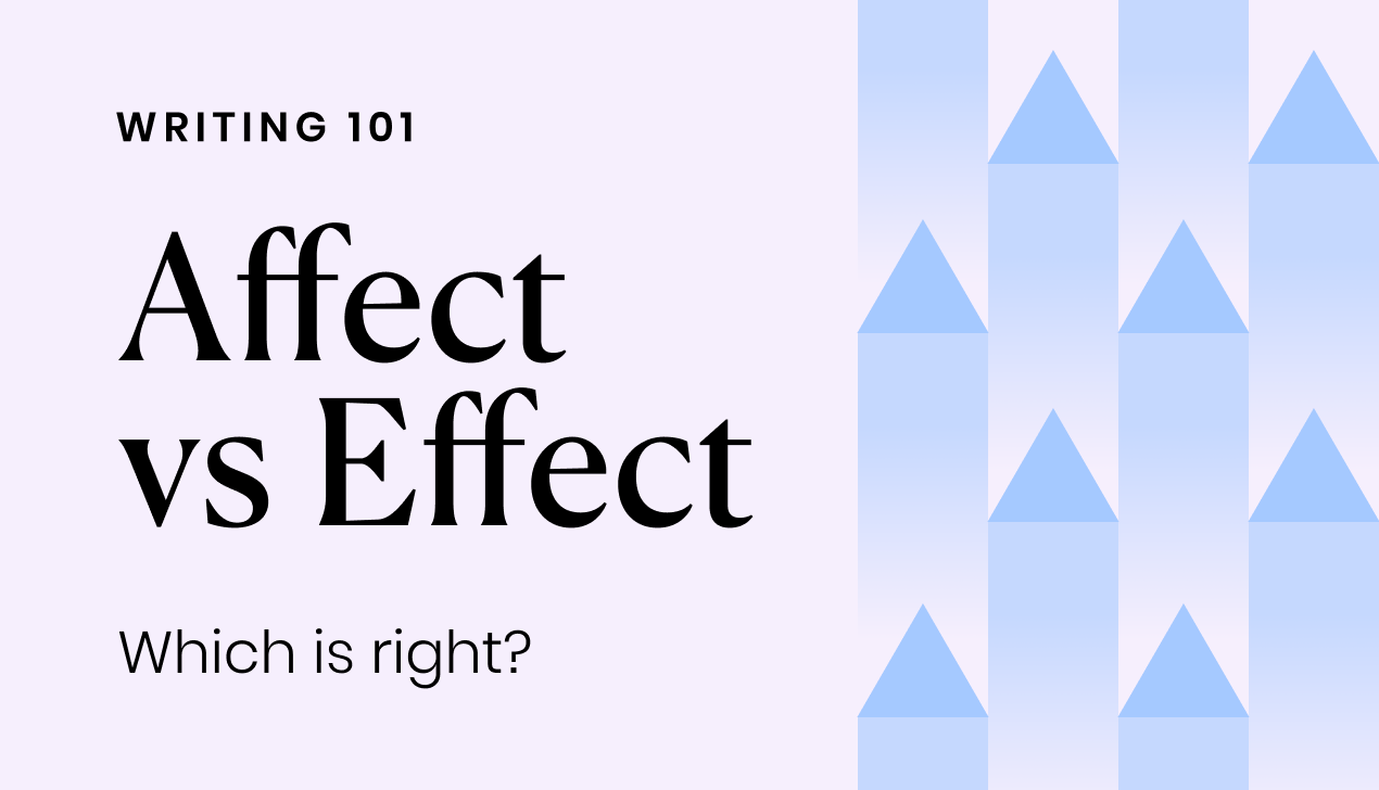 Affect vs. Effect: Which is right?