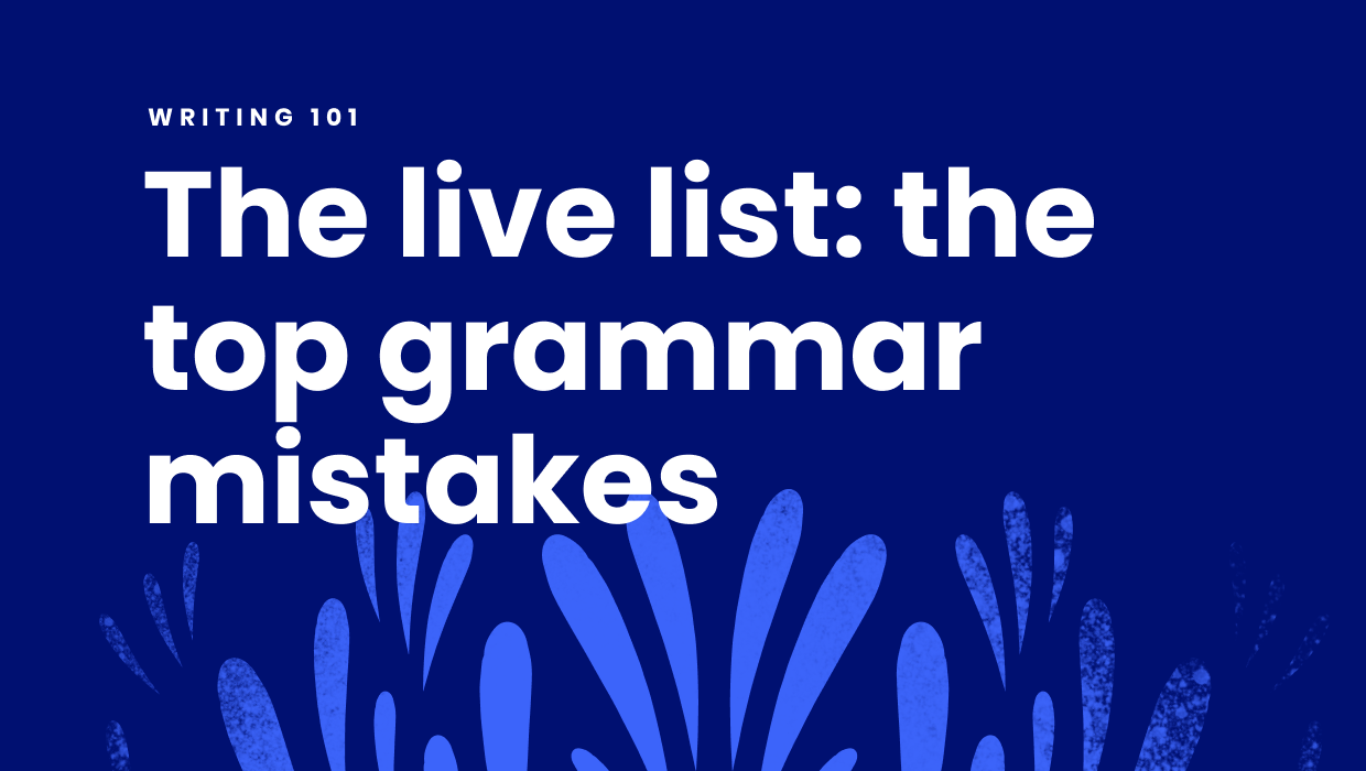 99 most common grammar mistakes
