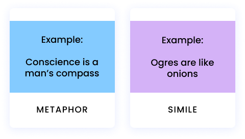 example of simile and metaphor