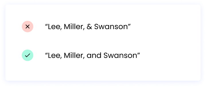 """""""Lee, Miller, and Swanson"""""""