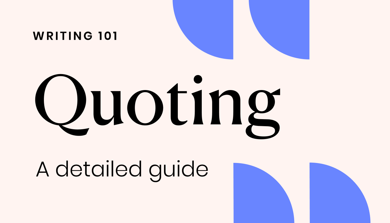 A detailed guide to quoting