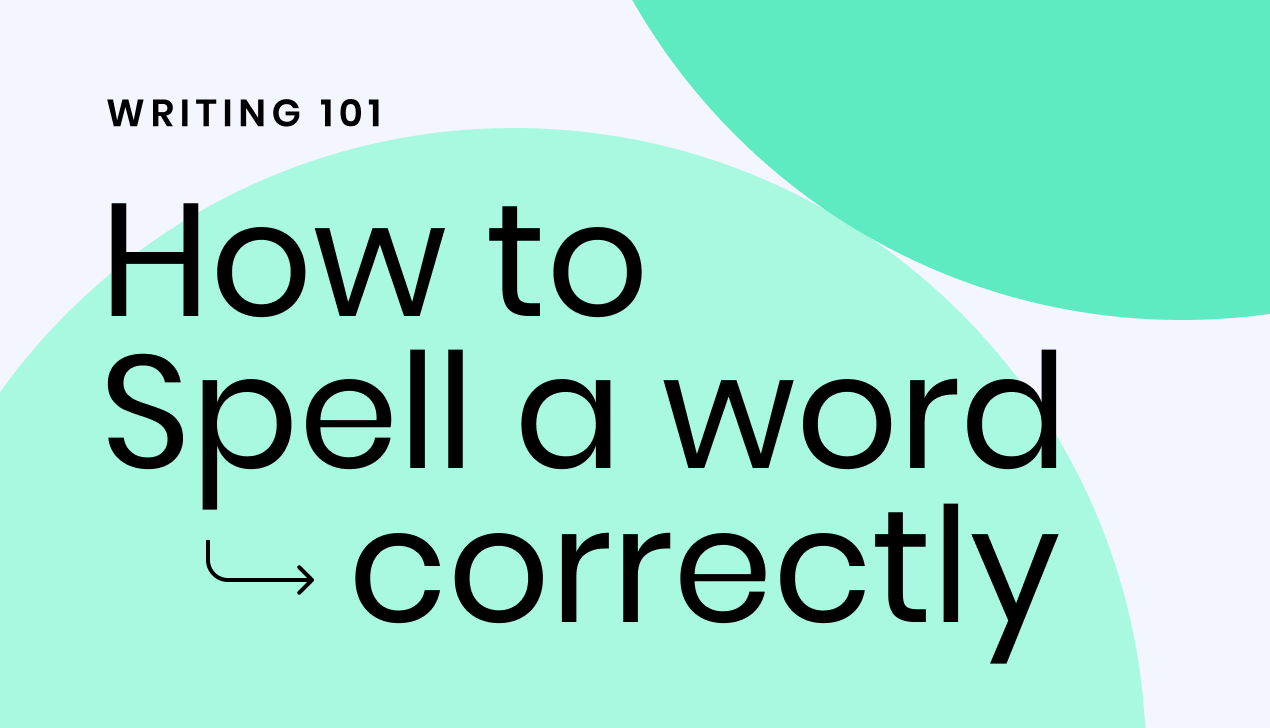How to spell a word correctly
