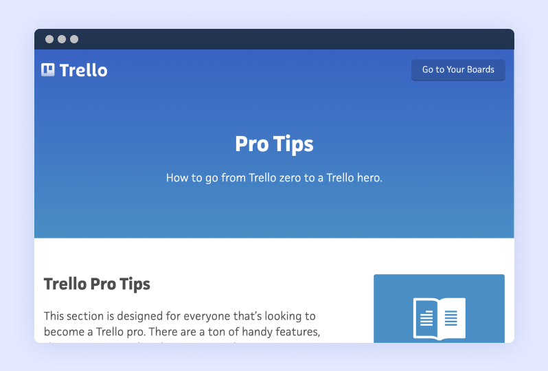 An example of Trello's playful voice at work in their help content-note the shout-out to earning extra coffee breaks thanks to time-savings from keyboard shortcuts (source)