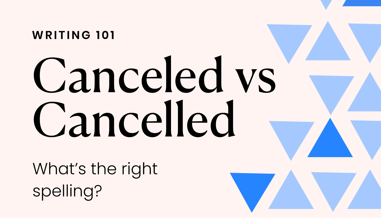 Canceled vs Cancelled