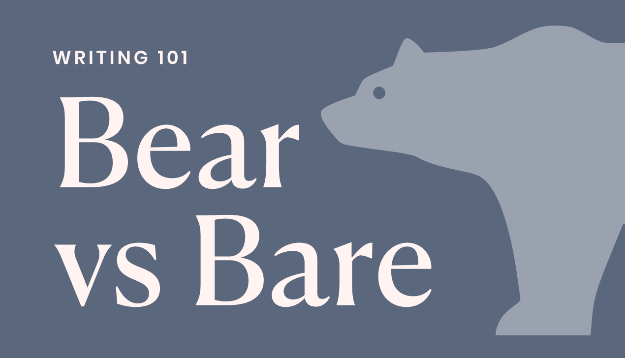 Bear with me vs. bare with me explained