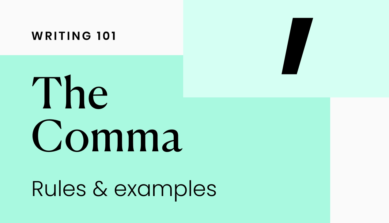How to use commas: rules and examples