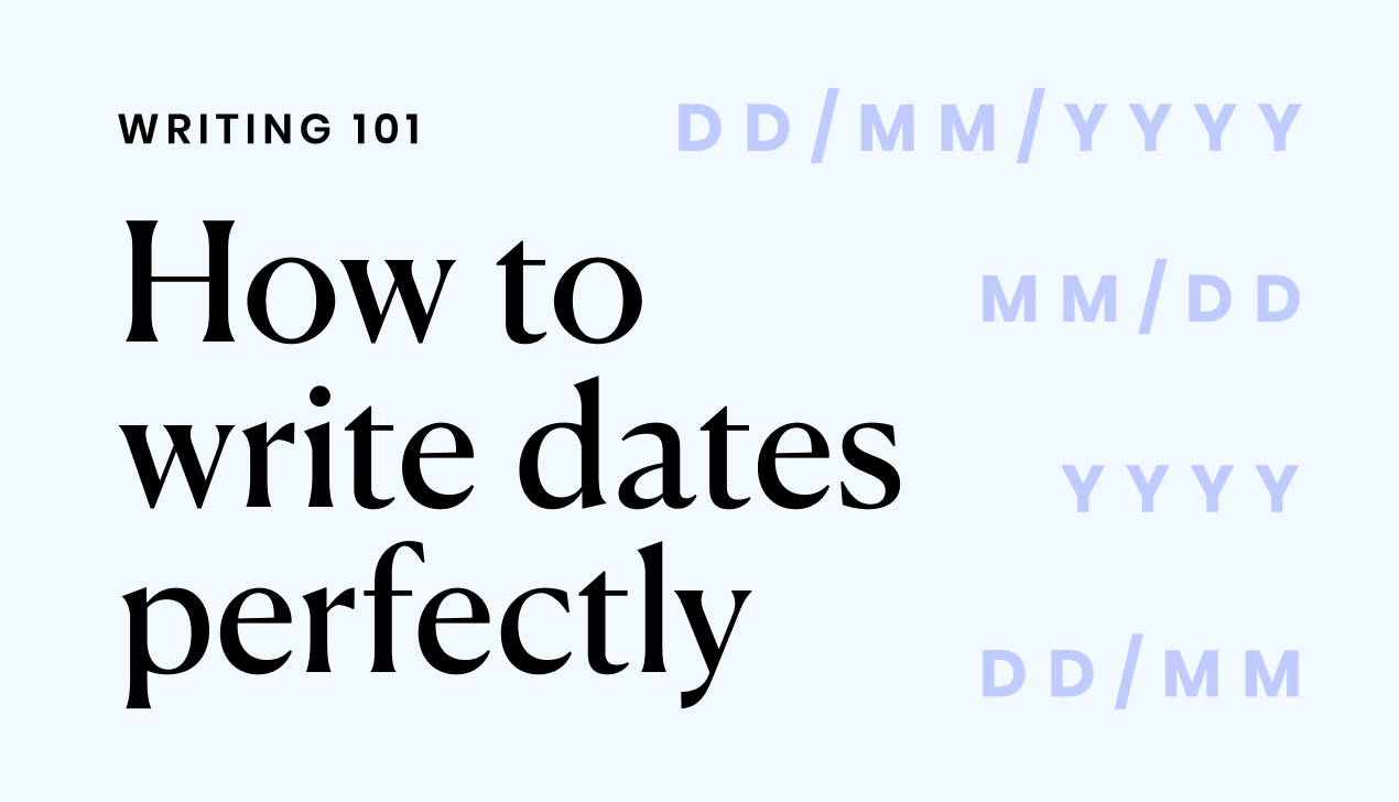 How to write dates perfectly